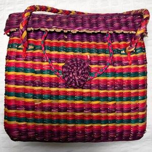 Vintage Sisal Basket Handbag